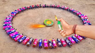 Experiment - Diwali Chakri In The Centre Of 100 Chutput Circle || Diwali Special 2020