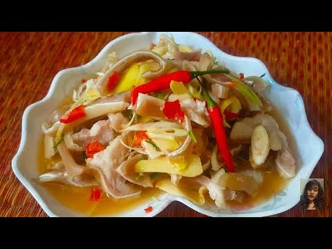 How To Make Chrok Trocheak Chrouk - Sweet , Sour , And Spicy Pig Ears  -  Yummy Food You Must Try