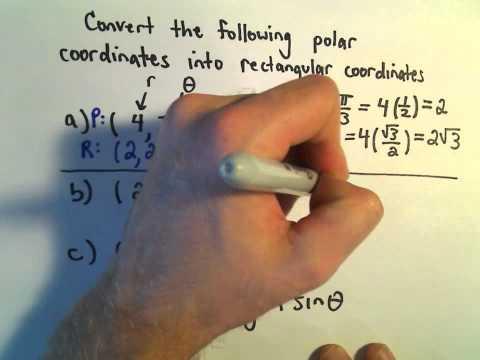 Converting Between Polar and Rectangular (Cartesian) Coordinates, Ex 3