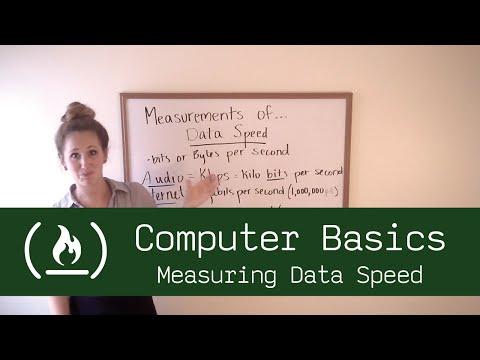 Computer Basics 6: Measuring Data Speed