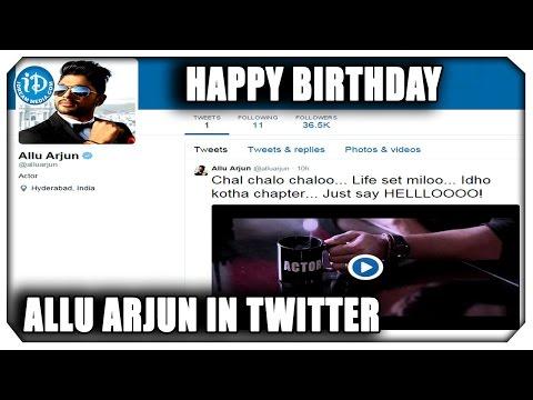 Allu Arjun Joins Twitter on his Birthday