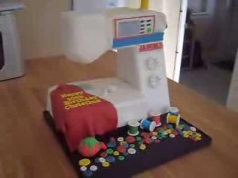 Moving Sewing Machine Cake