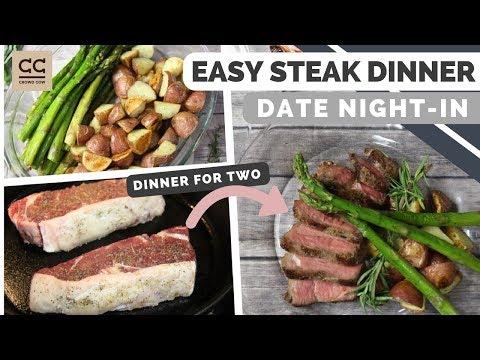 Easy Steak Dinner for Two Ft. CrowdCow | Valentine's Dinner At Home