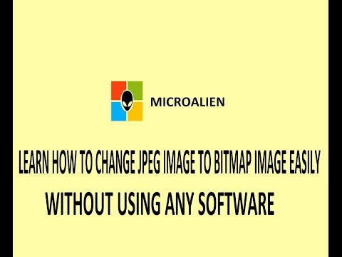 How to change jpeg (.jpg) to bitmap (.bmp) image