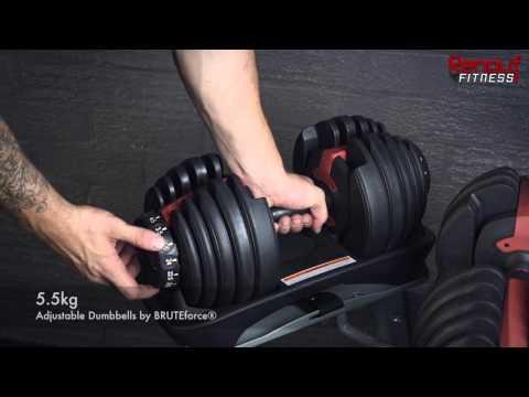 ADR24 Adjustable Dumbbell Set by BRUTEforce®