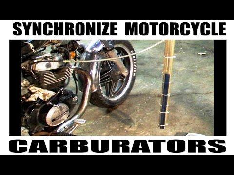 How to synchronize motorcycle carburetors