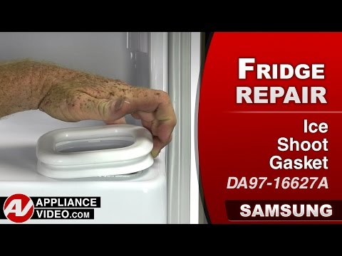 Samsung Refrigerator  - Ice Chute Gasket Repair & Diagnostic