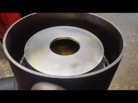Home made angle grinder centrifuge for filtering fuel wvo etc