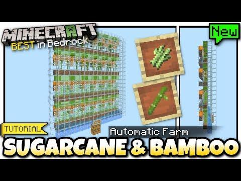 Minecraft - SUGARCANE & BAMBOO FARM ( Automatic & Cheap
