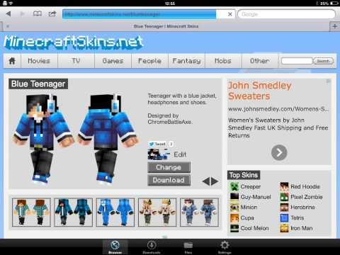 How to change your skin in minecraft pocket edition *updated version*