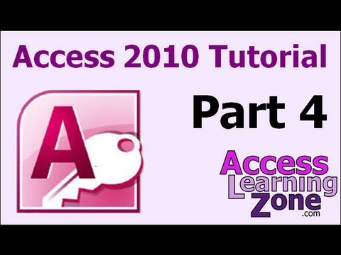 Microsoft Access 2010 Tutorial Part 04 of 12 - Customer Table, Part 1
