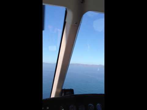 The Flight from Long Beach to Pebbles Beach, Catalina Island CA via Island Express