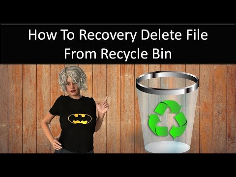HOW TO RECOVERY  DELETE FILE FROM RECYCLE BIN[COMPUTER TRICKS IN HINDI]