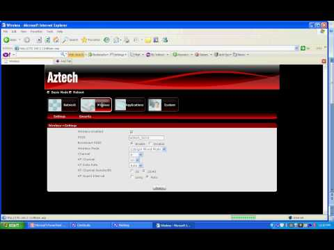 To know wireless password for Aztech HW 550-3G Router.avi