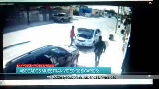 Abogados muestran video de sicarios