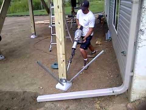 diamond pier footing install