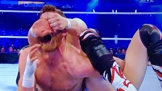 Wrestlemania 34 Daniel Bryan Shane McMahon vs Kevin Owens sami Zayn WWE
