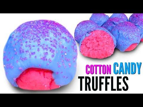 COTTON CANDY TRUFFLES - How To Make Candy Cake Truffles DIY