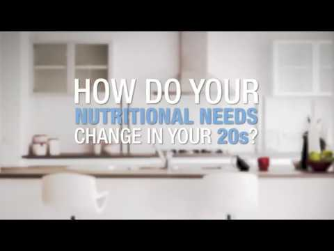 How do your nutritional needs change in your 20s?