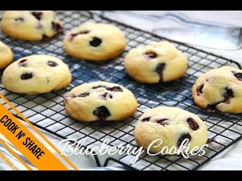 Blueberry Cookies - Soft and Melt in Your Mouth
