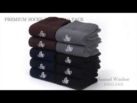 Premium Socks Plain - 10 pack