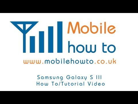 How To Organise Apps - Samsung Galaxy S3