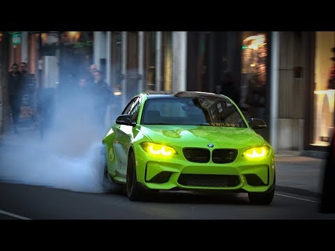 BMW M2 F87 crazy burnout in Central London