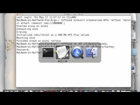 How to move user cache in a RAM disk (Mac OS X User)
