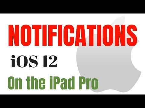How to Use Notifications iOS 12 on an iPad