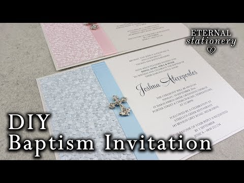 Very Easy DIY Embossed Baptism/Christening Invitation | DIY Invitations in MS Word