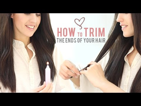 How to trim the ends of your hair