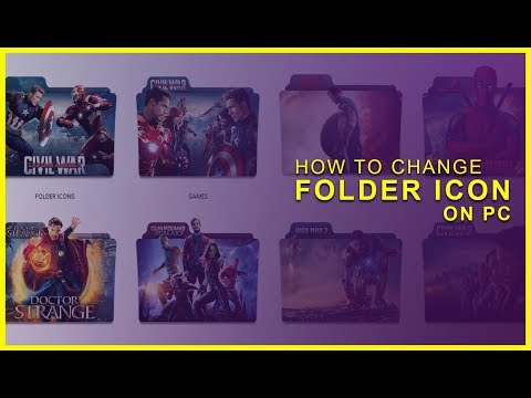 How to change folder icon into awesome superhero icon on pc