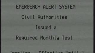 REAL Civil Emergency Message EAS Alert on TV!!! - 5/22/11