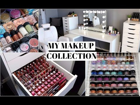 MAKEUP COLLECTION & STORAGE 2017!