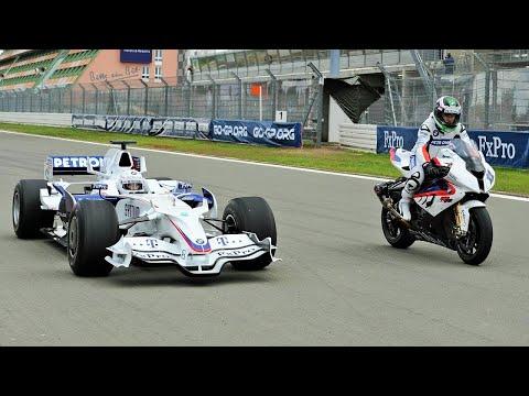 F1 Car vs Bike: BMW Sauber F1 vs BMW S 1000 RR