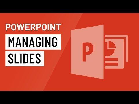 PowerPoint 2016: Managing Slides