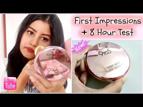 *NEW* Lakme 9 to 5 Primer + Matte Powder Foundation | First Impression | 8 Hour Test