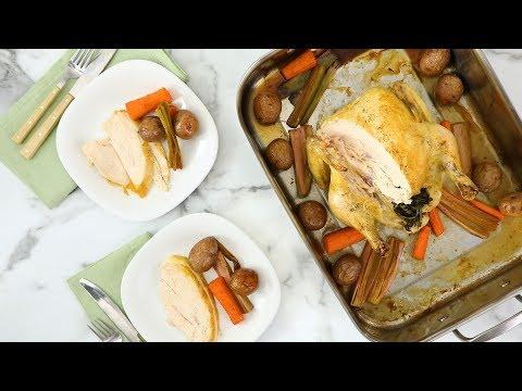 Herb-Roasted Chicken and Vegetables- Martha Stewart