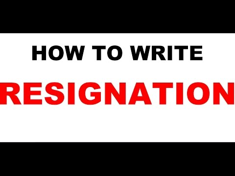 How to make resignation letter sample l Microsoft word