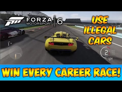 Forza 6: WIN EVERY CAREER RACE GLITCH - USE ILLEGAL CARS! | Fast Credits Glitch!