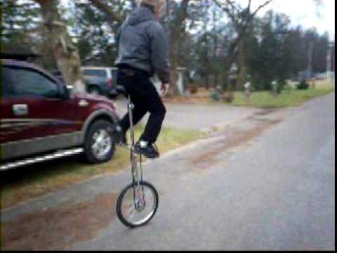 Old Man Riding a 5 Foot Unicycle