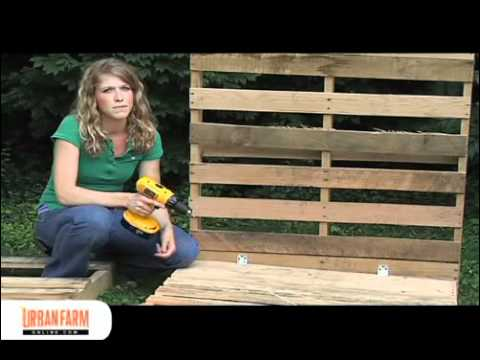 How To Build a Compost Bin from Wooden Pallets - UrbanFarmOnline.com