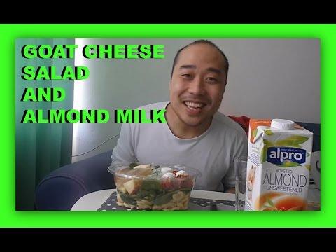 Eat With Me: Goat Cheese Salad & Almond Milk Mukbang