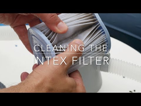 How to clean the Intex cartridge filter