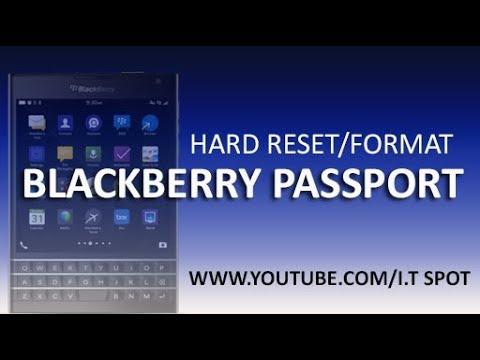 BlackBerry Passport & Classic /hard reset/Soft Reset/Factory reset