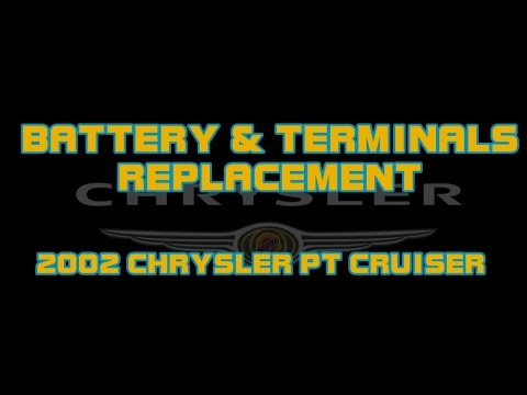 ⭐ How To Change A Battery And Battery Terminals - 2002 Chrysler PT Cruiser