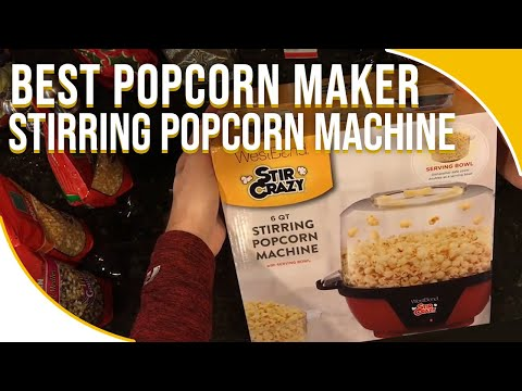 BEST POPCORN POPPER | WestBend Stircrazy Stirring Popcorn Machine Review