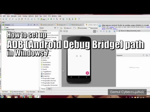 How to set up ADB path in Windows 7 (Android Debug Bridge)