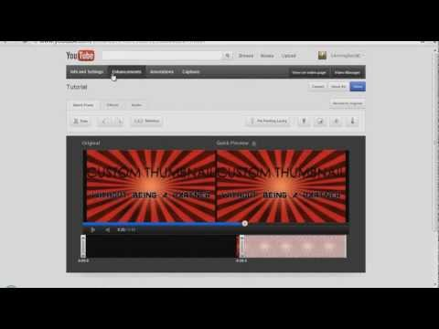 How to get Custom Thumbnails WITHOUT Being a Youtube Partner (2012) (HD)