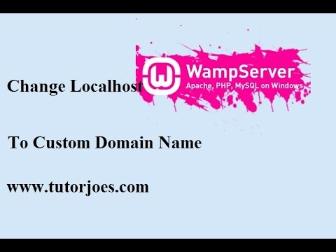 How To Change localhost to Custom domain name in wamp Server In Tamil